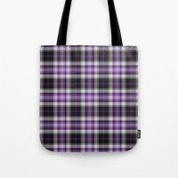 Purple Plaid Tote Bag