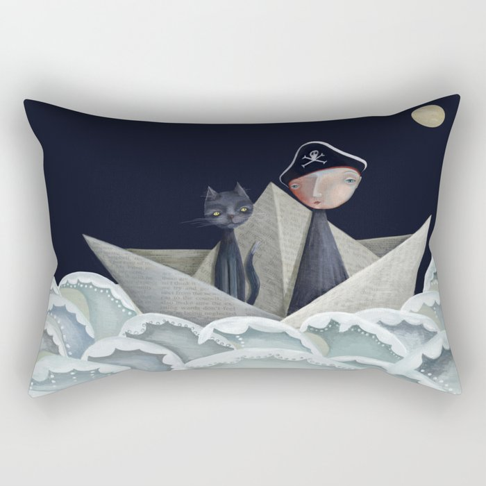 The Pirate Ship Rectangular Pillow