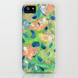 Just Because - Abstract floral iPhone Case