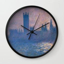 1903-Claude Monet-Houses of Parliament, Sunlight Effect (Le Parlement, effet de soleil) Wall Clock