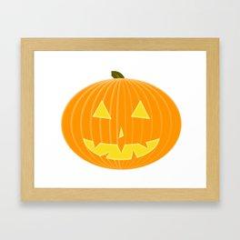 Cartoon Jack-o'-lantern Framed Art Print