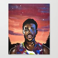 chance the rapper Canvas Prints featuring Chance the Rapper by Mackenzie Mauro