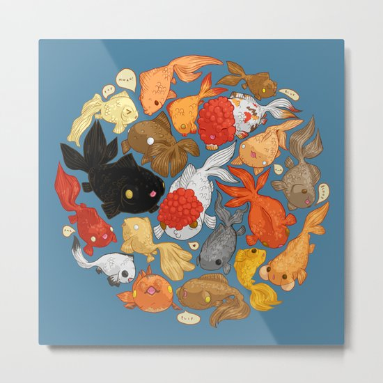 For The Love Of Goldfish Metal Print