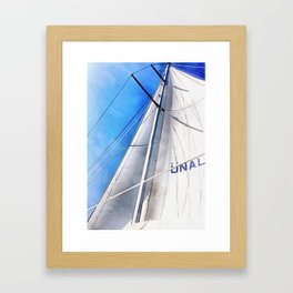 Keep The Wind In Your Sails Framed Art Print