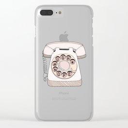 Phone Call Clear iPhone Case