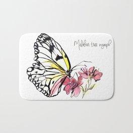 Malabar  Tree Nymph Butterfly Bath Mat