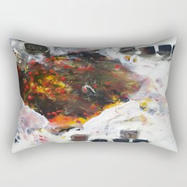 Stairway to Stasis - Mixed Media Fossil Beeswax Encaustic Abstract Modern Fine Art, 2015 Rectangular Pillow