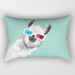 Sneaky Llama with 3D Glasses #01 Rectangular Pillow