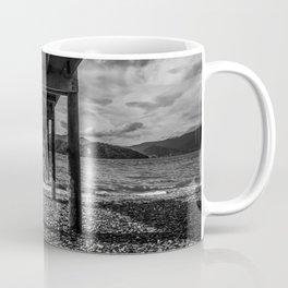 NEW ZEALAND MARLBOROUGH SOUNDS JETTY MONOCHROME  Coffee Mug