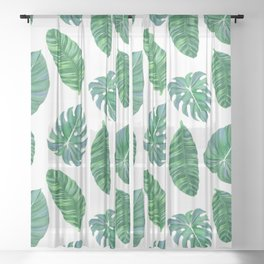 Banana leaf Sheer Curtain