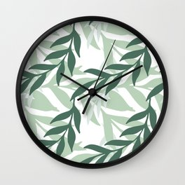 Leaves And Plants Wall Clock