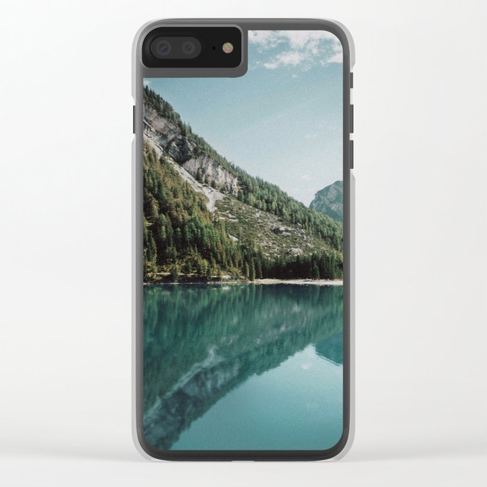 Grainy Lake Clear iPhone Case