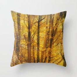 Woodland Chaos Throw Pillow