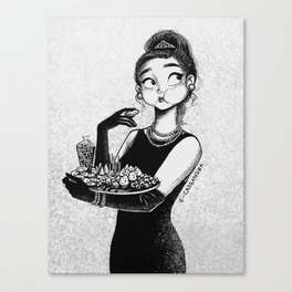breakfast with Tiffany Canvas Print