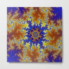 Fractal Checkerboard Metal Print