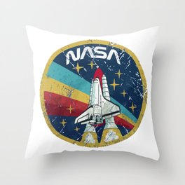 Nasa Vintage Throw Pillow
