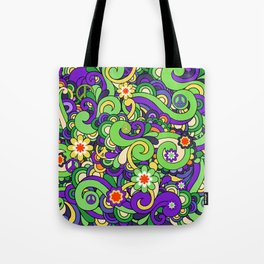 Colorful Hippie Swirl Pattern 3 Tote Bag