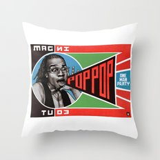 One Man Party Throw Pillow