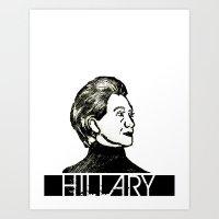 Hillary Block Print Art Print