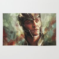 liam payne Area & Throw Rugs featuring The Prince of Asgard by Alice X. Zhang