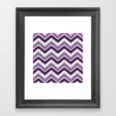 Ikat Chevron: Purple Tonal  Framed Art Print