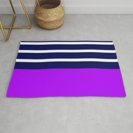 Summer Patio Perfect, Purple, White & Navy Rug