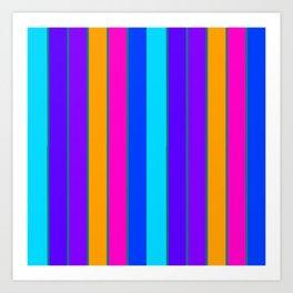 sTRIPES Colorful  Art Print
