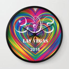 Electric Daisy Carnival Heart Wall Clock