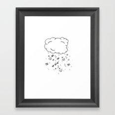 Hipster Rain Cloud Framed Art Print