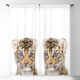 Baby Tiger Art Print by Zouzounio Art Blackout Curtain