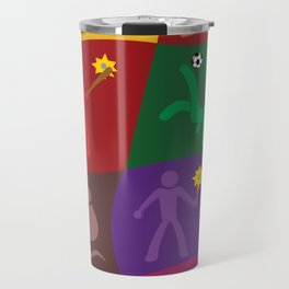 Multicolor Fluid Sports Travel Mug