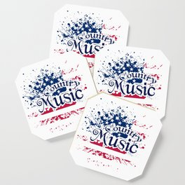 Fan Country Music American Flag Coaster