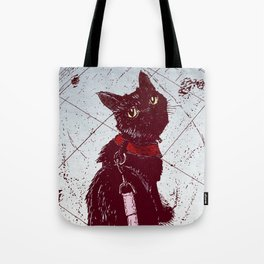 Cat on a Leash Tote Bag