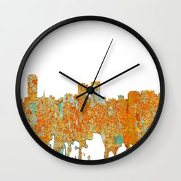 Baton Rouge Skyline - Rust Wall Clock