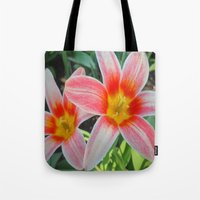 tulips Tote Bags featuring Tulips by Vitta