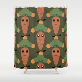 Cute carrot Shower Curtain