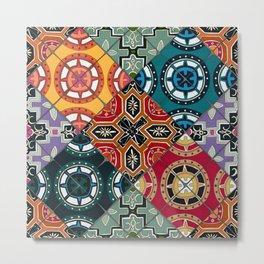 DESEO BOLD spanish tiles Metal Print