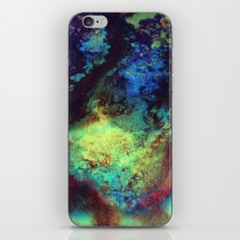 Titan Abstract Artwork, Contemporary Artist Design, Close Up Photograph, Bright Color Abstract Art iPhone Skin