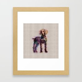 Weimaraner puppy sketch Framed Art Print