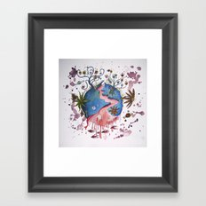 The strange planet Framed Art Print