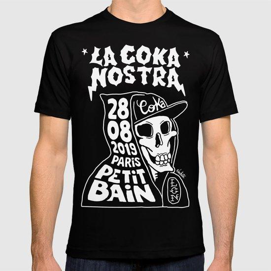 La Coka Nostra T Shirt Funny Birthday Cotton Tee Vintage Gift Men Women