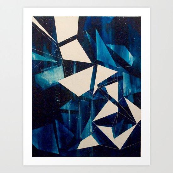 Spatial Geometry Art Print