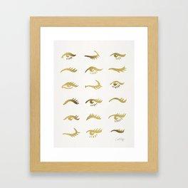 Mascara Envy – Gold Palette Framed Art Print