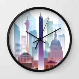 City of skyline, Washington DC, United States Wall Clock