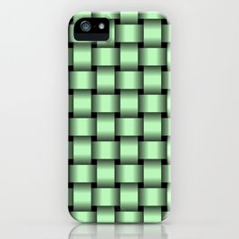 Small Light Green Weave iPhone Case