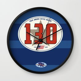 SRC Preparations Racecar Rebels: 130 Snake Bite Wall Clock