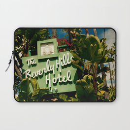Classy Beverly Hills Hotel Mid Century Modern Neon Sign Laptop Sleeve