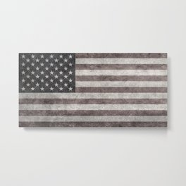 US flag in desaturated grunge Metal Print