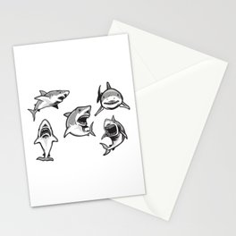 Angry Sharks Stationery Cards