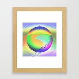 Iceberg A68 - Ultraviolet Satin Framed Art Print